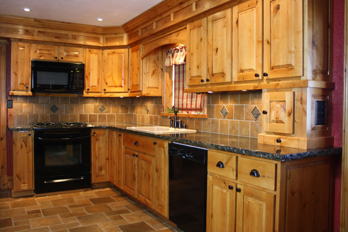Knotty Alder Kitchen Cabinet Pictures