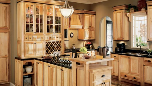 Captivating Hickory Cabinets I
