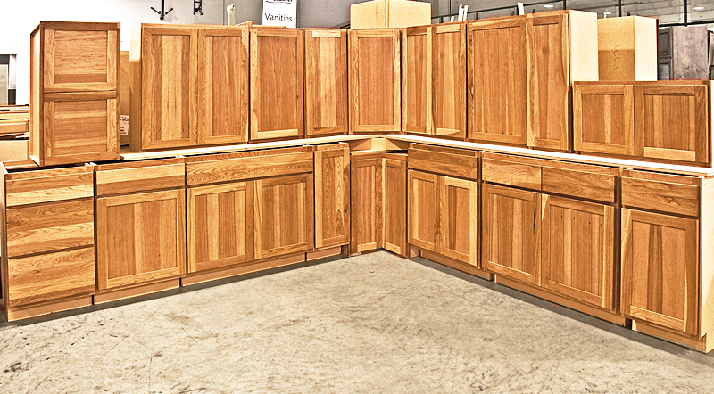 Hickory Wood Inspirations Reeds Custom Cabinets