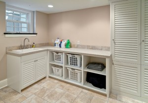 Louvered Laundry Room