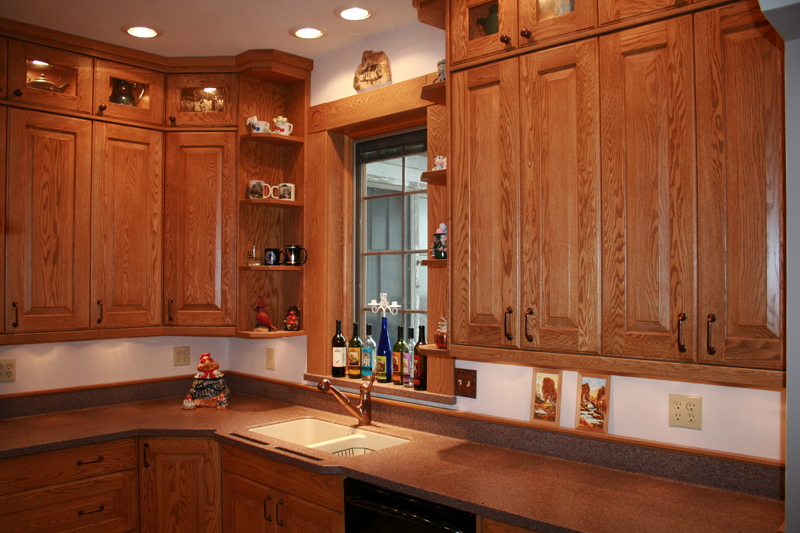 Red Oak Cabinet Inspirations Reeds Custom Cabinets